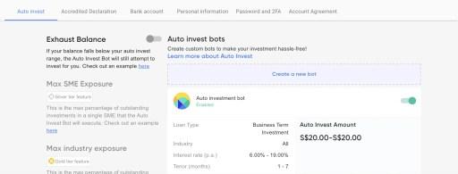 Funding Societies Auto Invest