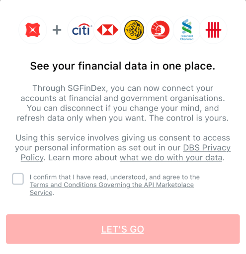 SGFinDex Link Your Bank Accounts Together