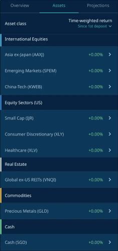 StashAway 36 Risk Index Portfolio Asset Allocation