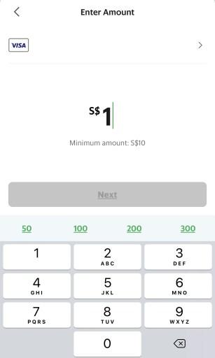 GrabPay Wallet Minimum Top Up