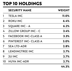 ARKW Top 10 Holdings
