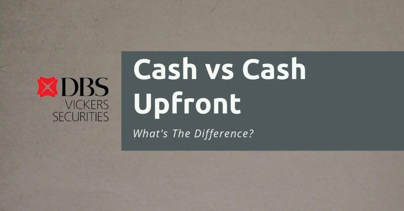 Cash vs Cash Upfront