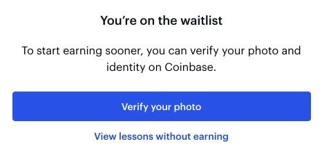 Coinbase Earn Waitlist