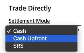 DBS Vickers Cash vs Cash Upfront Settlement