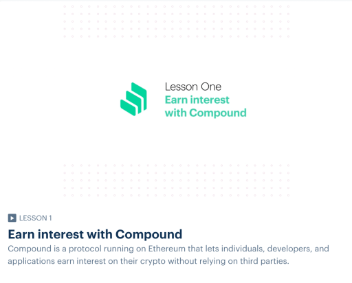 Coinbase Earn COMP Video Lesson