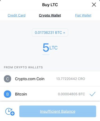 Crypto.com Buy LTC Crypto Wallet