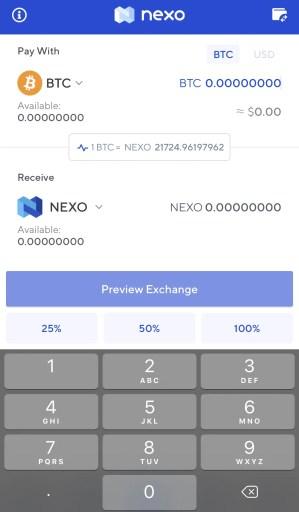 Nexo Exchange Cryptocurrency