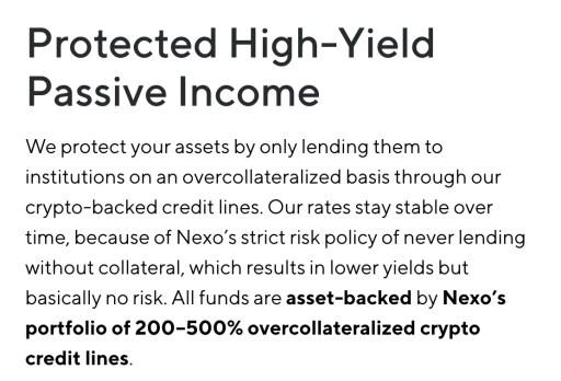 Nexo Loan Collateral