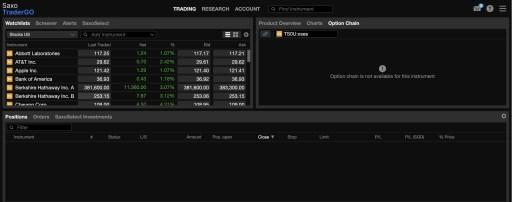 Saxo TraderGO Platform