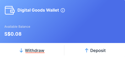 Xfers Digital Goods Wallet Withdraw