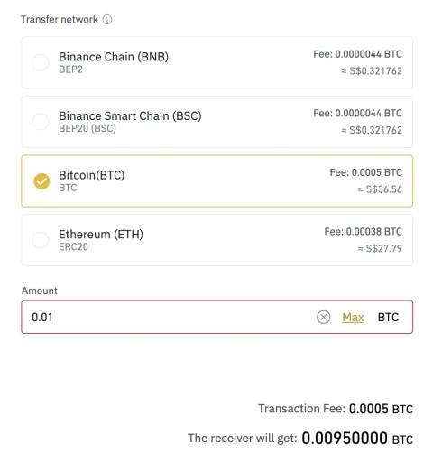 Binance Transfer Bitcoin To Coinhako Fees
