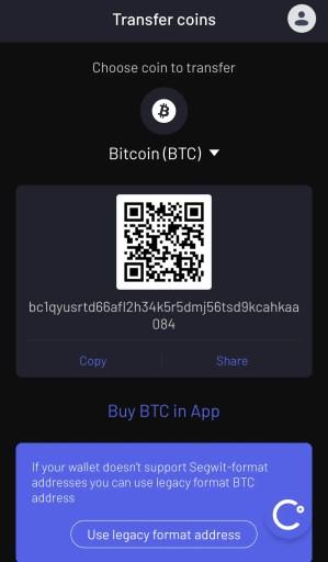 Celsius Deposit Bitcoin Page
