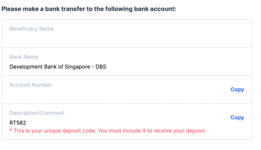 Coinhako FAST Add Payee Details
