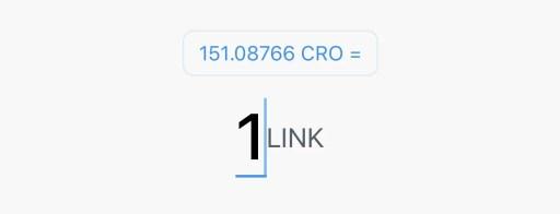 Crypto.com App CRO LINK Exchange Rate