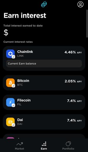 Gemini Earn Select Currency
