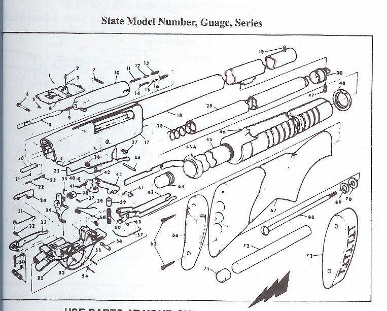 how to disassemble and clean springfield model 67 series e
