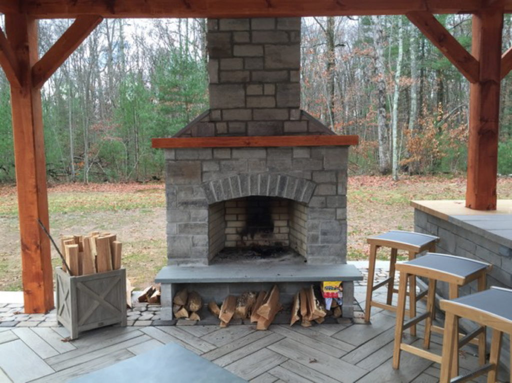 outdoor fireplace kit, masonry outdoor fireplace, stone