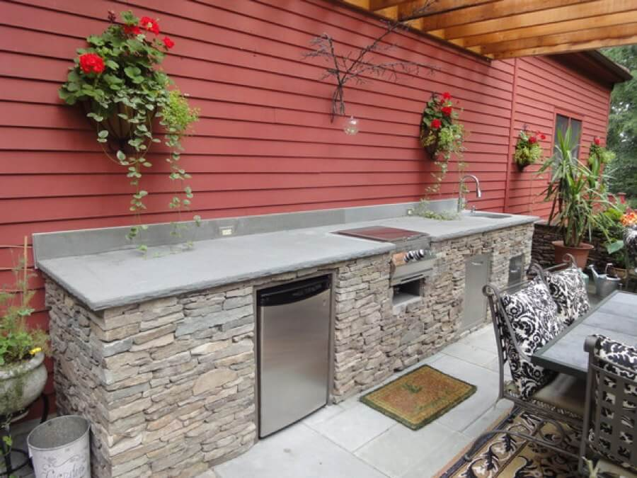 modular outdoor kitchen bosch sinks kitchens cabinets entertaining summerset grill building an