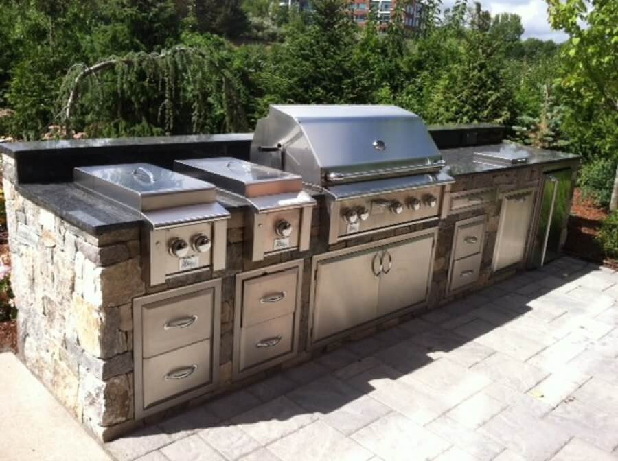 outdoor kitchen modular cute chalkboard sayings kitchens cabinets entertaining summerset grill building an