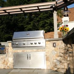 Outdoor Kitchen Modular Black Rugs Kitchens Cabinets Entertaining Stainless Steel Grill