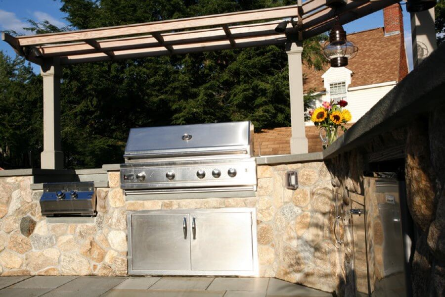 outdoor kitchen modules rectangular table kitchens modular cabinets entertaining stainless steel grill