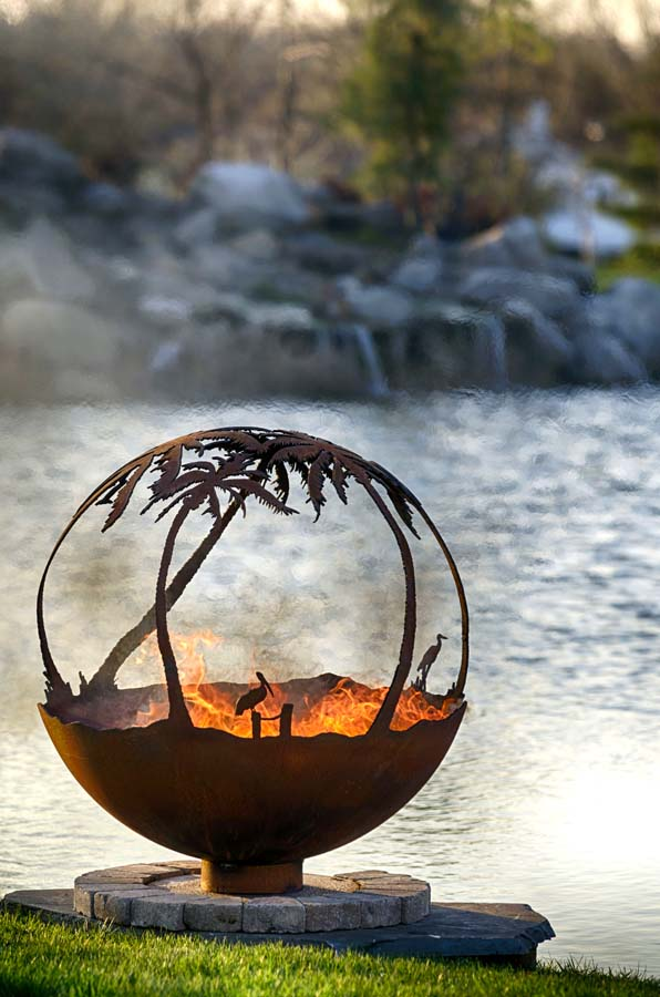 Fire Pit Sphere  Another Day in Paradise  The Fire Pit