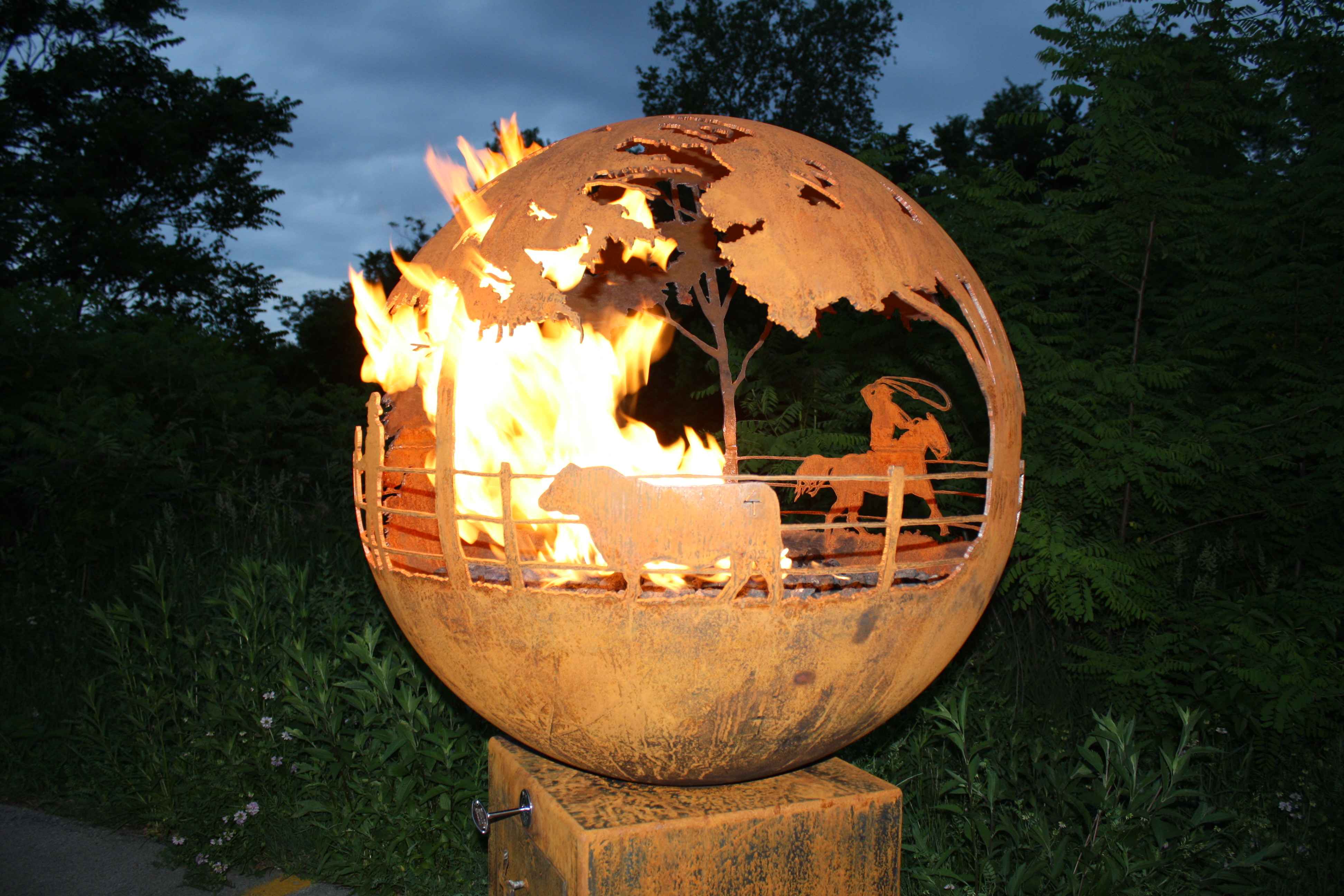 Round Up Gas Fire Pit Bull The Fire Pit Gallery