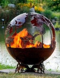 Outback - Australia Fire Pit Sphere | The Fire Pit Gallery
