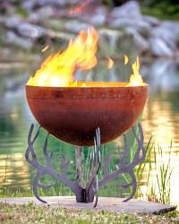 Rack of Fire Antler Fire Pit 30 Firebowl