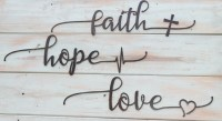 Faith Hope Love | Metal Wall Art Signs