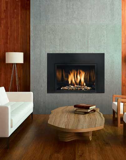 Mendota Fullview Modern Gas Insert  The Fireplace Club