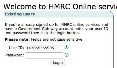 Registering for self assessment tax return