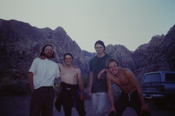 (L-R) Scott, me, Tim and Troy after climbing Epinephrine in Red Rocks, NV