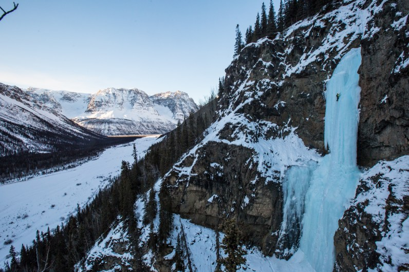 Dustin Eroh, Broken Dreams WI5, Chitistone River, Wrangells St. Elias National Park, AK (Photo: Andrew Burr)