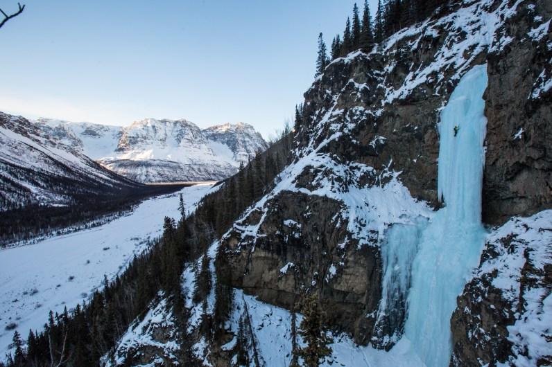 Dustin Eroh, Broken Dreams WI5, Chitistone River, Wrangells St. Elias National Park, AK (Photo: Andrew Burr)