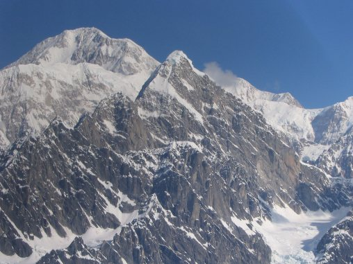 The east side of Huntington with the south ridge rising from left to right. (Photo: Clint Helander)
