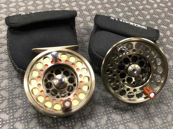 Sold - . Loomis East Fork Fly Reel & Spare Spool Line Backing Great Shape 55