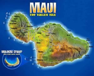 Maui travelers map