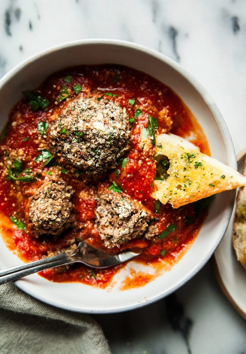 Giant Vegan Mushroom Meatballs Amp Garlic Bread 187 The First