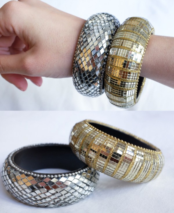 mirrored bangle set