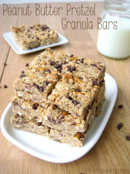 Peanut Butter Pretzel Granola Bars
