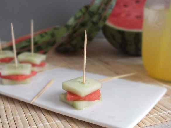 Cucumber Watermelon Sandwiches
