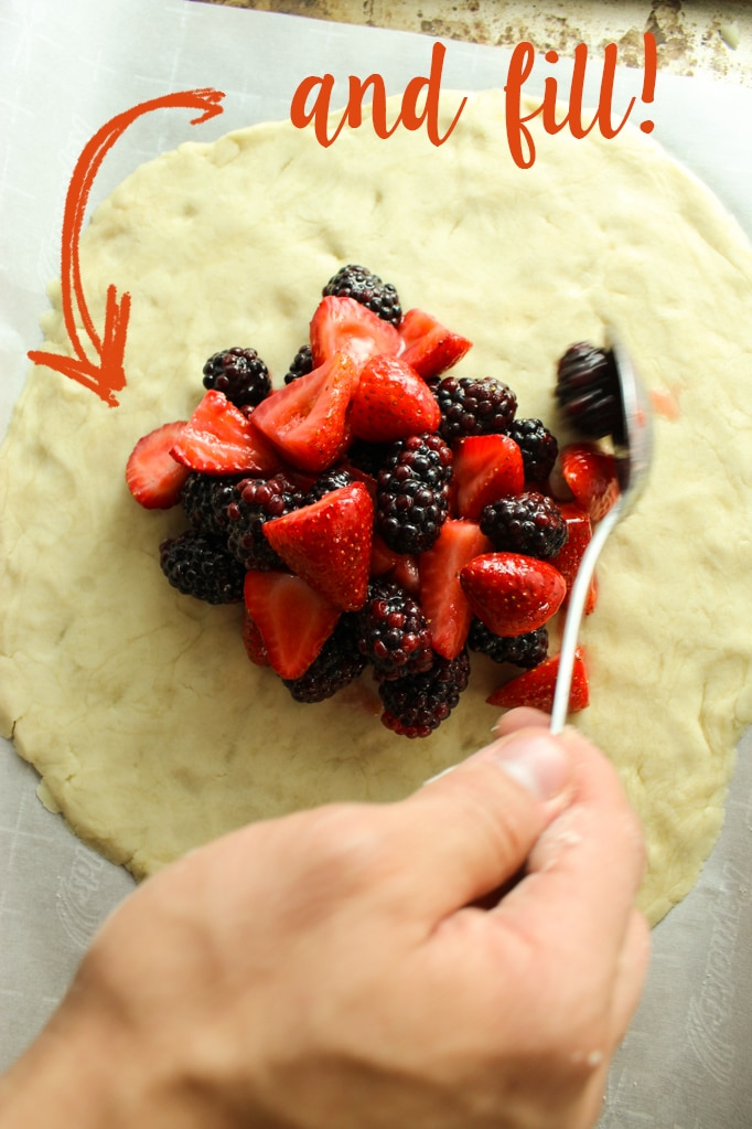 Vegan Berry Galette