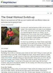 Weight Watchers | Expert Advice | June 2012