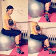 Hey baby, can I Physio Ball GLUTES rock and CALF RAISE roll with you? Luisa L. of France via Harlem, NY.