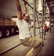 Street meat? Nah, meet me in the street for some HANGING ABS. Scaffolding or bust, NYC
