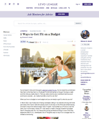 LEVO LEAGUE | Fitness Feature | November 5, 2013