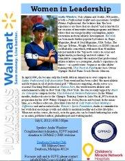 Andia Winslow speaks as Keynote at Walmart Women in Leadership