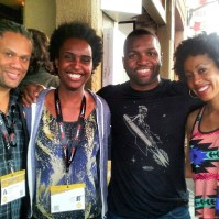 Franklin Leonard (CEO of The Black List), Monique, Baratunde (Founder of Cultivated Wit and Author #HowToBeBlack), Andia