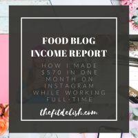 Food Blog Income Report - January 2020